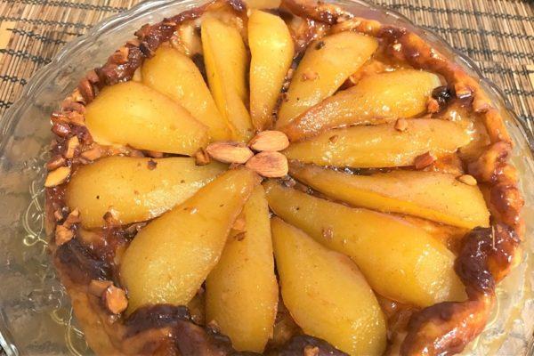 Пирог с грушей рецепт слоеным тестом