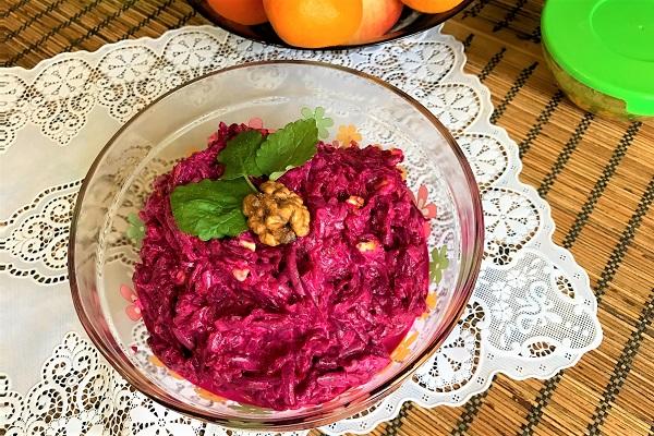 Салат из свеклы отварной рецепт с очень вкусный с