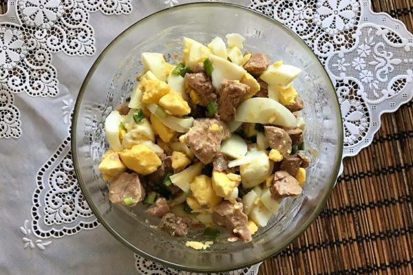 Печень трескиы салатов с яблоками