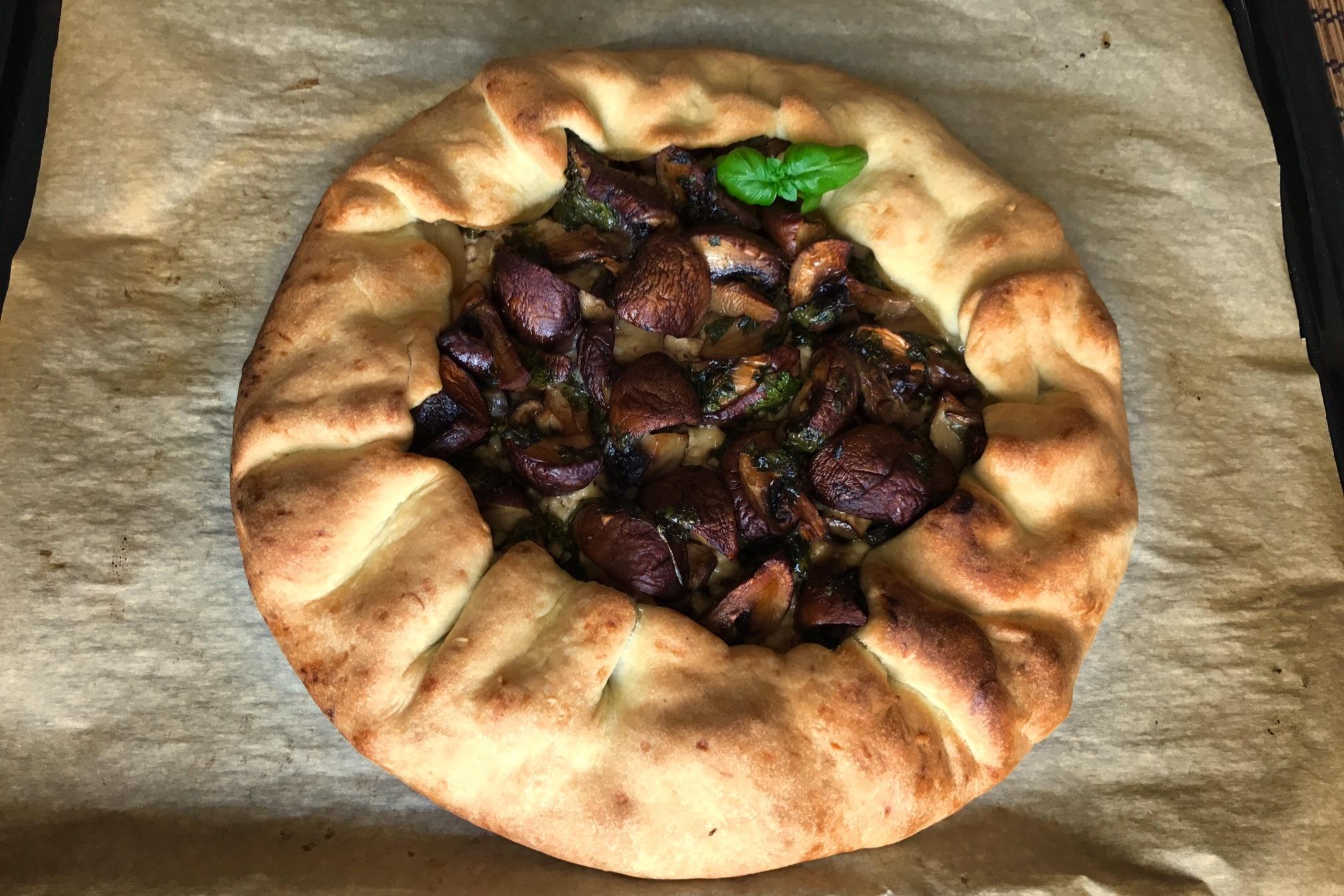 Рецепт открытых пирогов с грибами