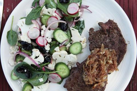 salat redis maslin recept