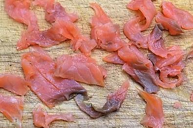 slat s lasosem i rukkuloi narezfem losos