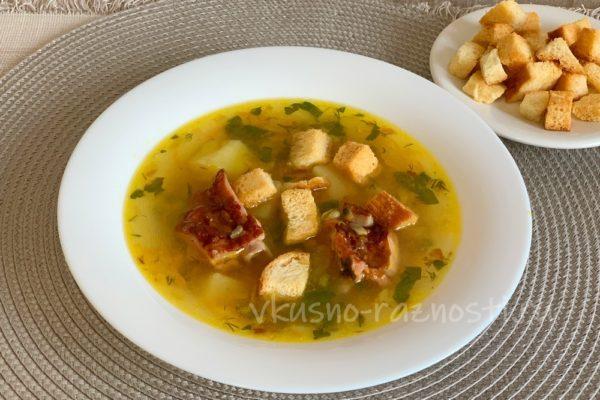 Sup gorohovyj s kopchenoj grudinkoj gotov