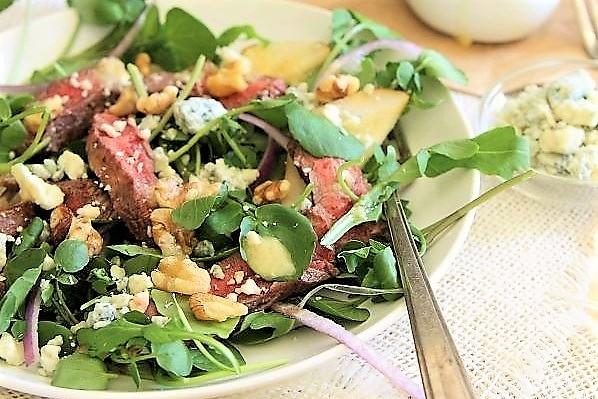salat iz stejka grushi kress-salata podaem