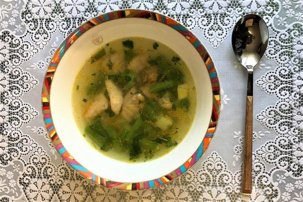 Суп со стручковой фасолью и курицей в мултиварке