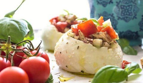 Сыр Моцарелла фаршированный Капрезе