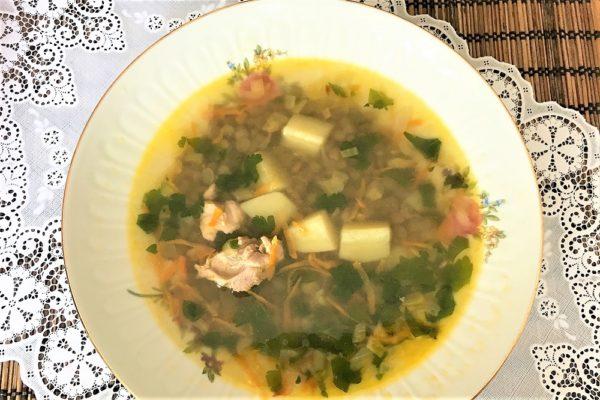 Sup s chechevicei recept s kuricei