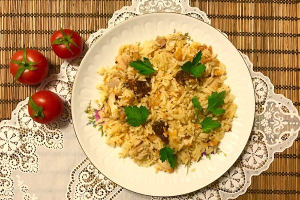 Рецепт вкусного плова с курицей и вялеными помидорами