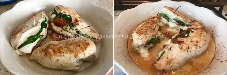 Kurinaya grudka zapechennaya s pomidorami i syrom