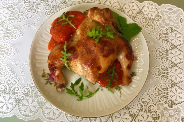Курица корнишон рецепт с перечно-томатным сусом
