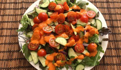 Салат с помидорами черри салатом огурцами и луком