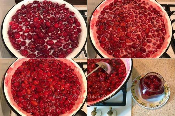 Kak varit kizilovoe varene s kostochkami