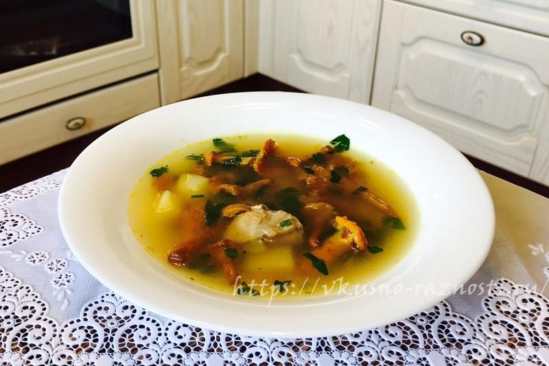 Gribnoi sup s lisichkami recept s foto