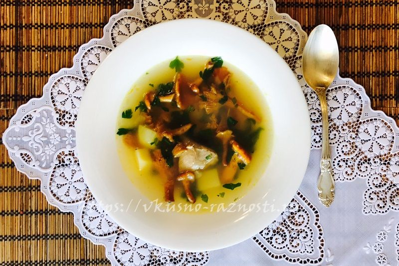 Sup s lisichkami recept s poshagovym foto