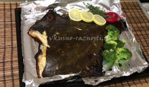 Камбала запеченная в духовке простой рецепт