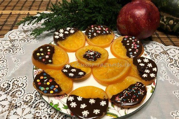 Kak sdela' apelsinovye cukaty v shokolade
