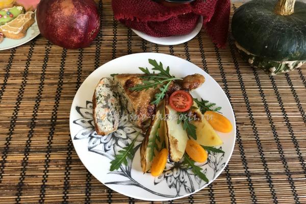 Farshirovannye okorochka v duhovke recept s foto i kartoshkoj
