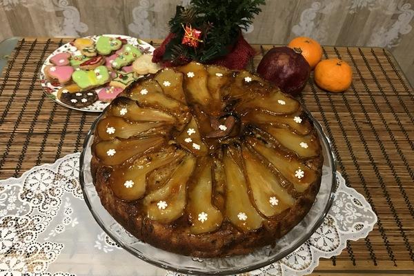 Pirog s grushami v duhovke recept s foto poshagovo