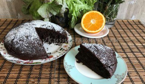 Шоколадный пирог простой рецепт на кокосовом молоке