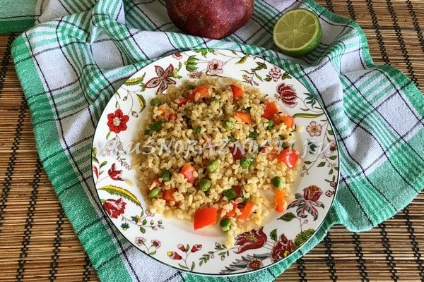 Bulgur s ovoshhami recept s foto