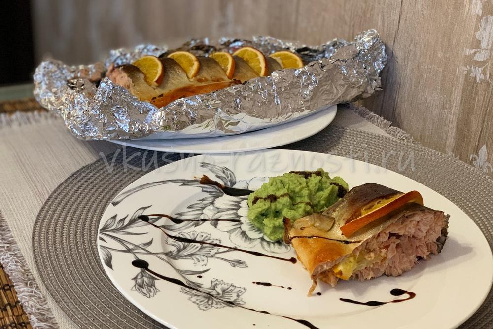Kak prigotovit gorbushu vkusno i prosto v duhovke PP recept s apelsinami i pyure iz brokkoli