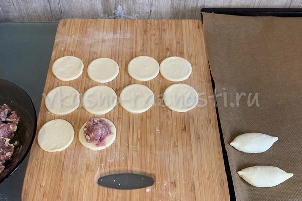 Pirozhki iz sloenogo testa recepty s foto