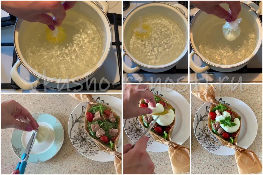 Dobavlyaem v salat yajco pasho